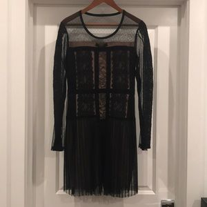 NEW BCBG black lace dress